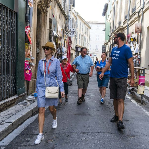 Guests walking through the streets of Paris