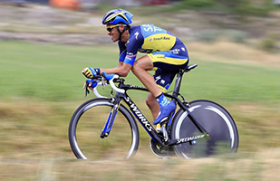 Alberto Contador during time trial